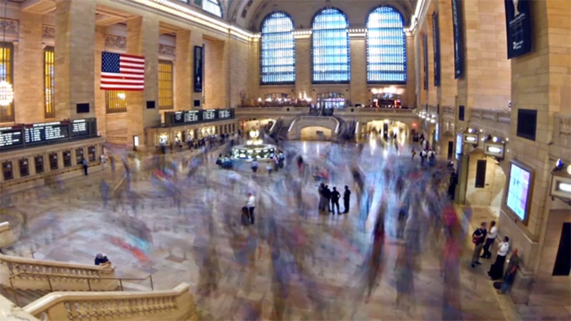 Tori foster, Grand Central Terminal, Single channel video (HD), 107 minutes, 2014